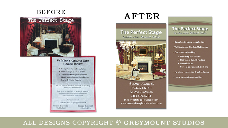 Business card design in Slingerlands, NY