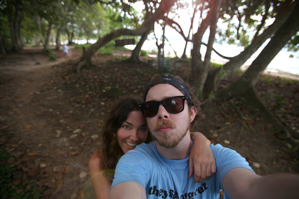 Hanging out with my husband in Puerto Viejo, Costa Rica