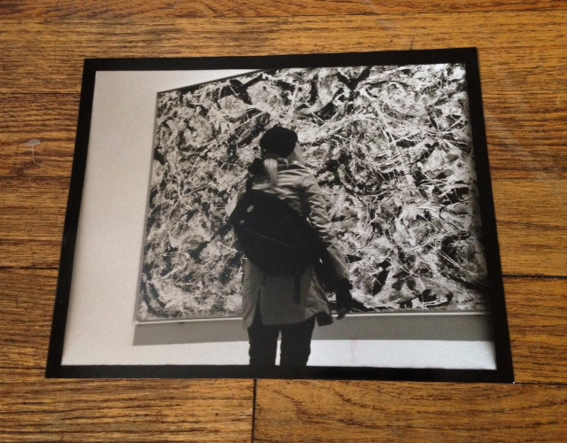 This is a gelatin silver print I took at my first Art Institute Museum visit. I was overwhelmed by this Jackson Pollack painting.