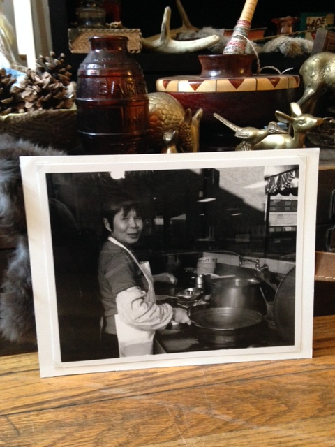I took this photo on my first visit here. This was a woman cooking inside a restaurant in Chicago's China Town. This is a gelatin silver print I made from a 35mn negative.