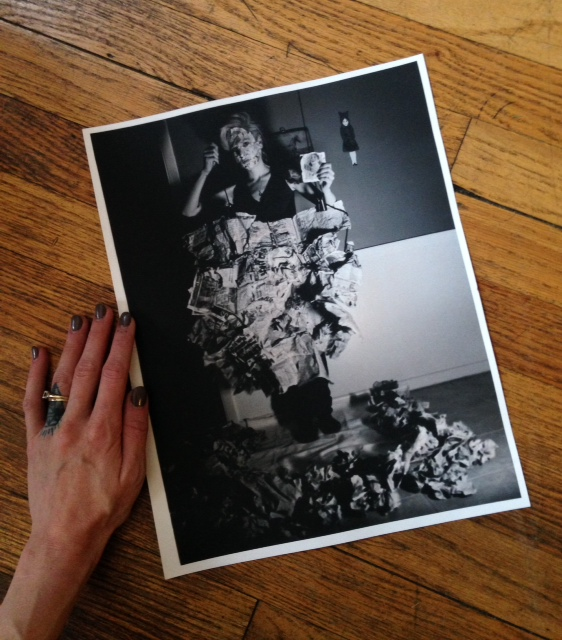 This is the work I was creating at the time I visited Chicago for the first time. My art has almost always been about personal story. This piece is a self-portrait, taken on 35mm film and printed in the dark room.