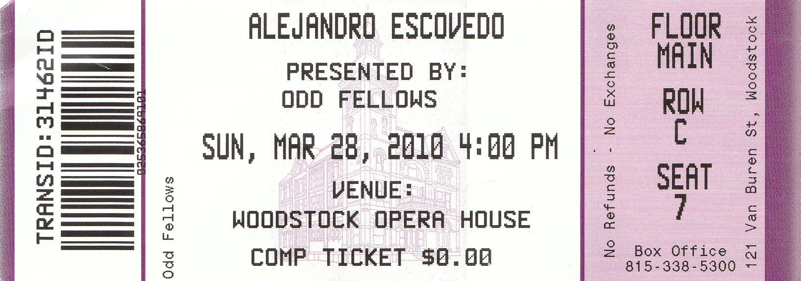 Alejandro Ticket