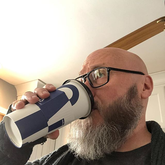 This is how friendship works. I buy a coffee and Joe Thorn steals it. Then he sends a series of pics of his family enjoying my coffee. #TrueLoveDrinks