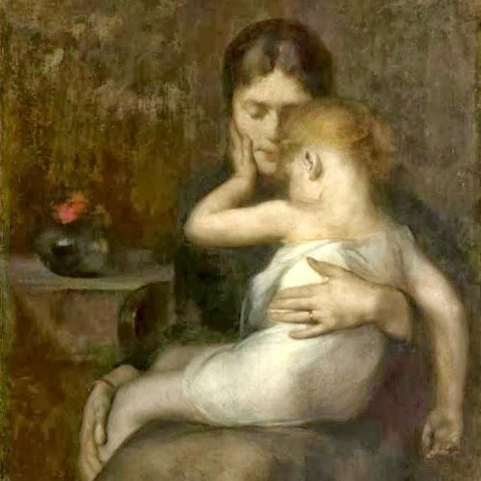 Eugène Carrière,The Sick Child(1885)