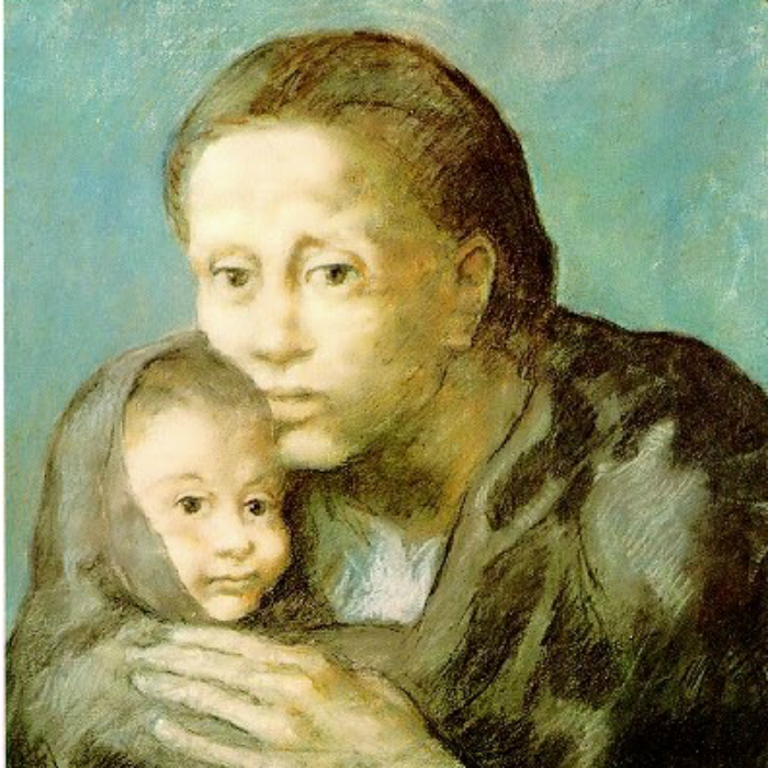 Pablo Picasso, Mother and Sick Child (1903)
