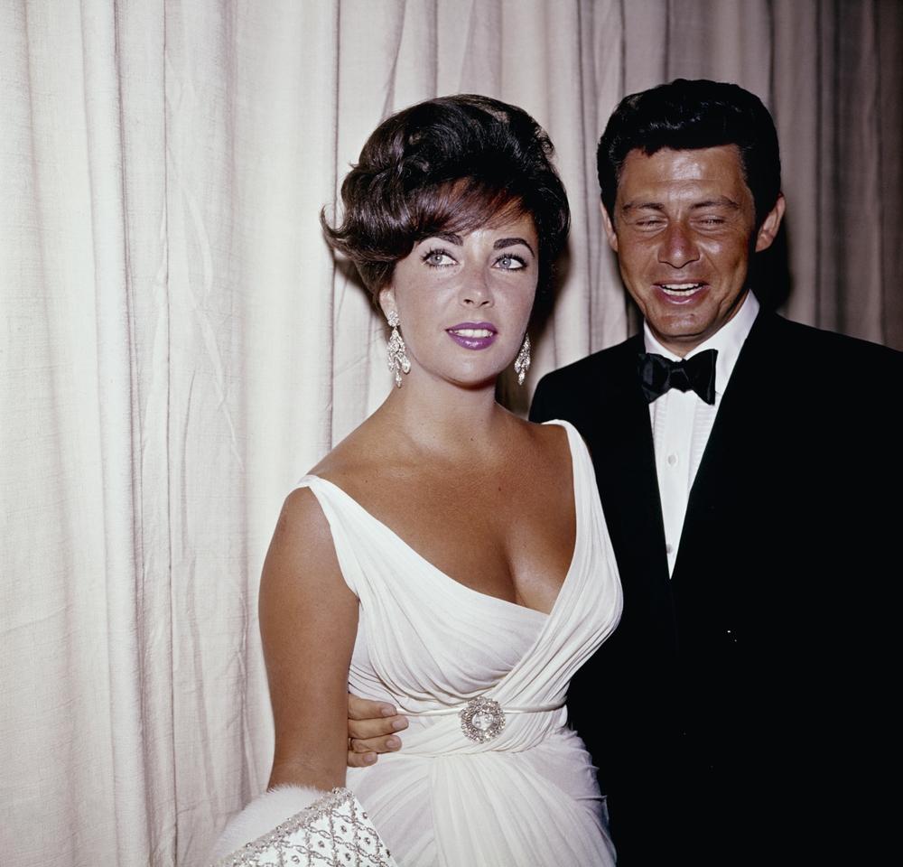 Elizabeth Taylor with Eddie Fisher, 1962
