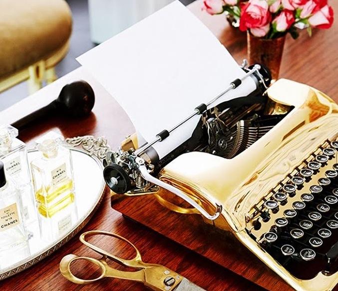 Every writer needs a gold typewriter
