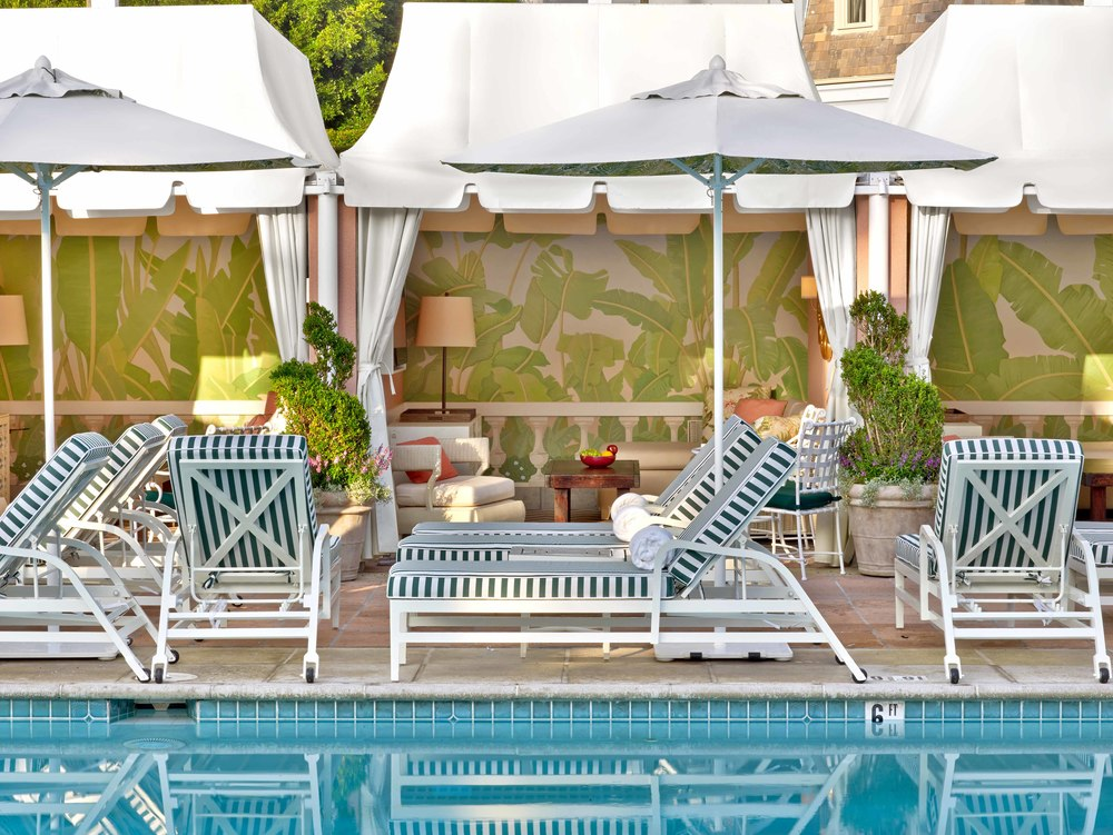 The poolside Cabana Café at the The Beverly Hills Hotel