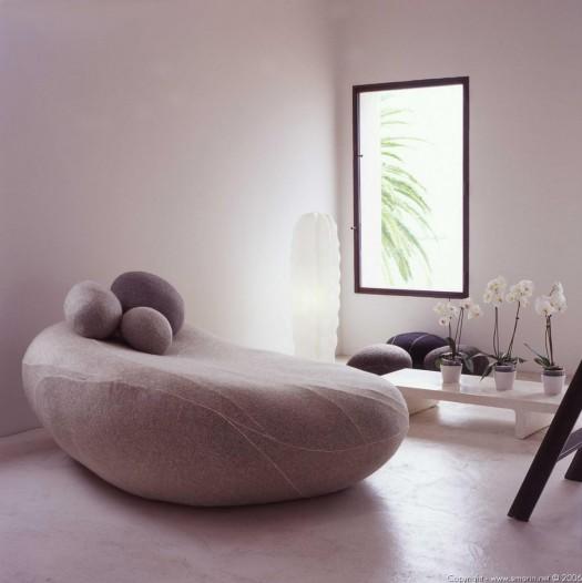 Plush Stone Seating