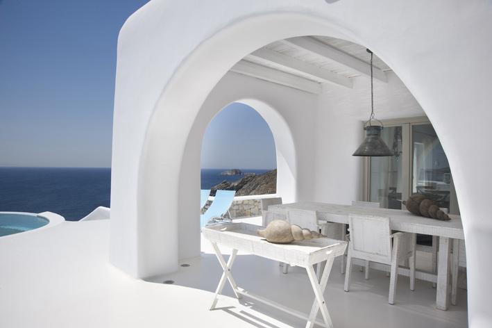 Greece Villa View 55f4b620d557e3e2bd641ae021520931 Decorators Best Unique Dining Rooms Interior Design