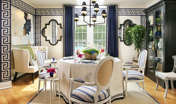 Decorators Best Unique Dining Rooms Interior Design Ideas Greek Key