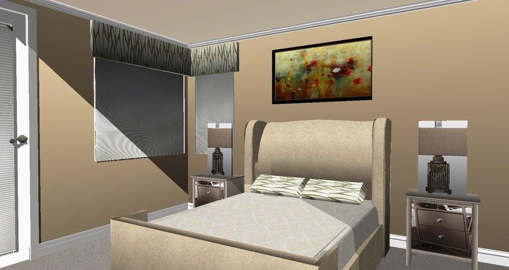 GUEST BEDROOM - CONCEPT RENDERING