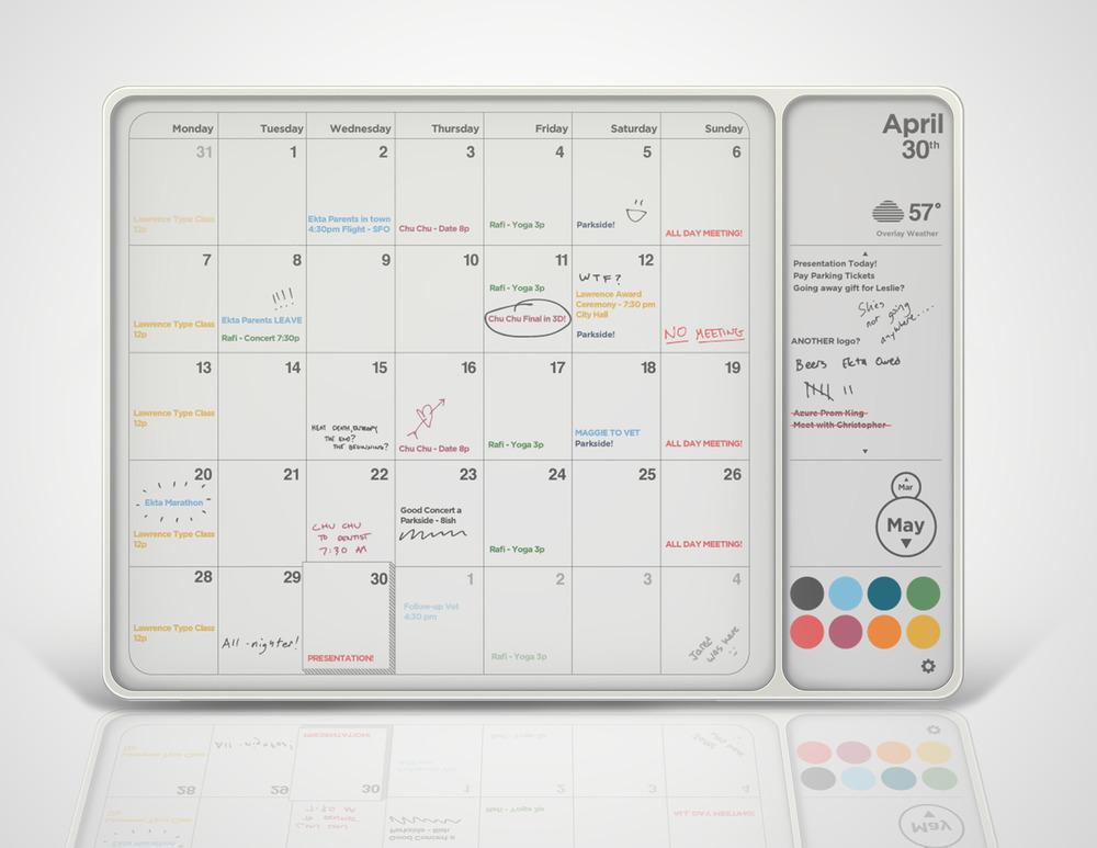 Hearth Digital Physical Calendar Design Research Visual