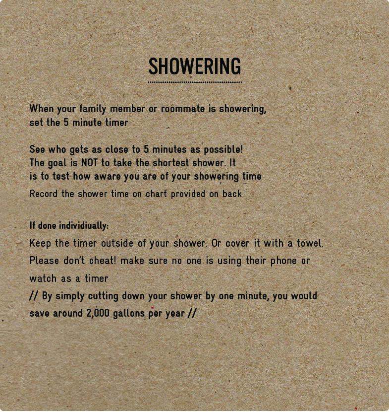 Challenge Showering EKTA SHAH