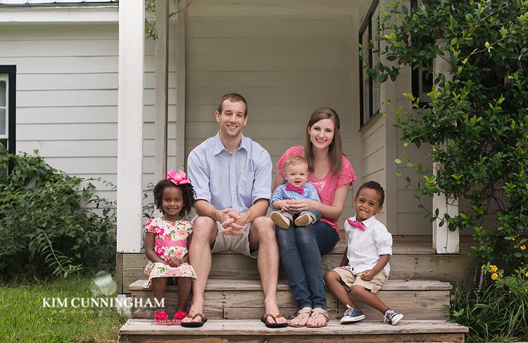 Outdoor family photography in Newnan, Georgia