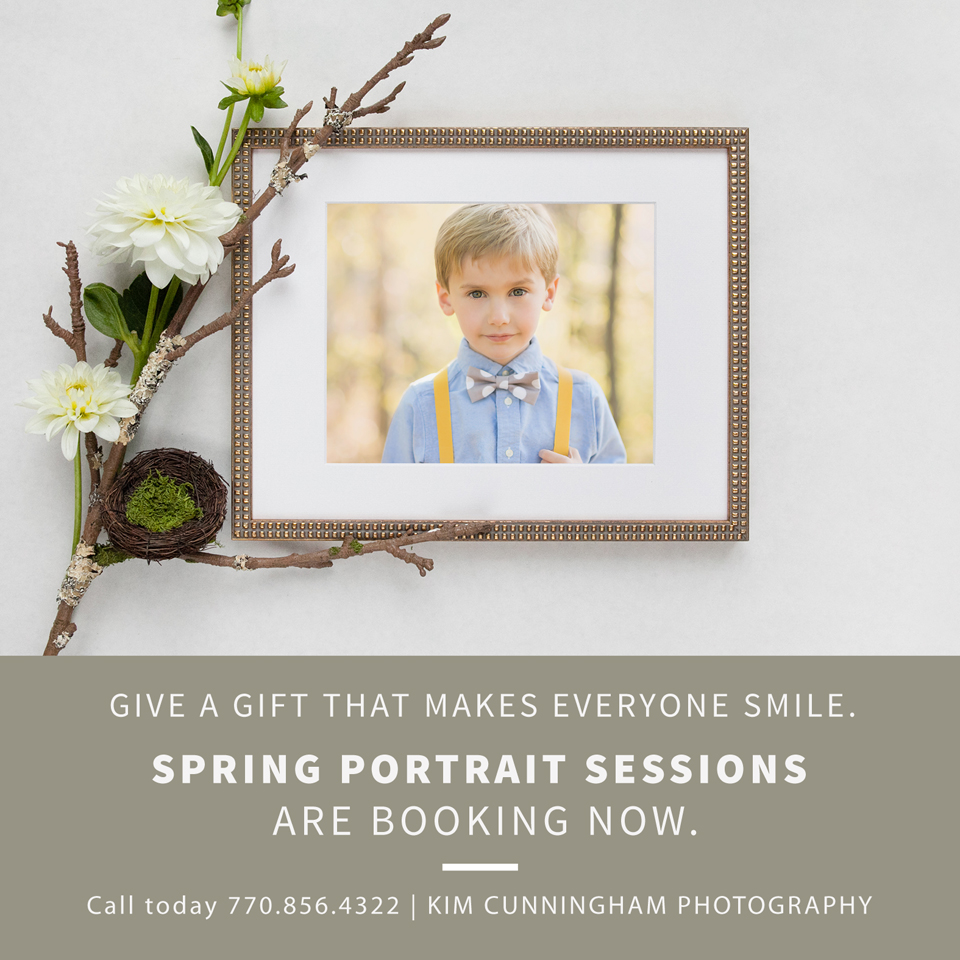 Spring portraits for children in Newnan, Fayetteville, Sharpsburg, and Tyrone.