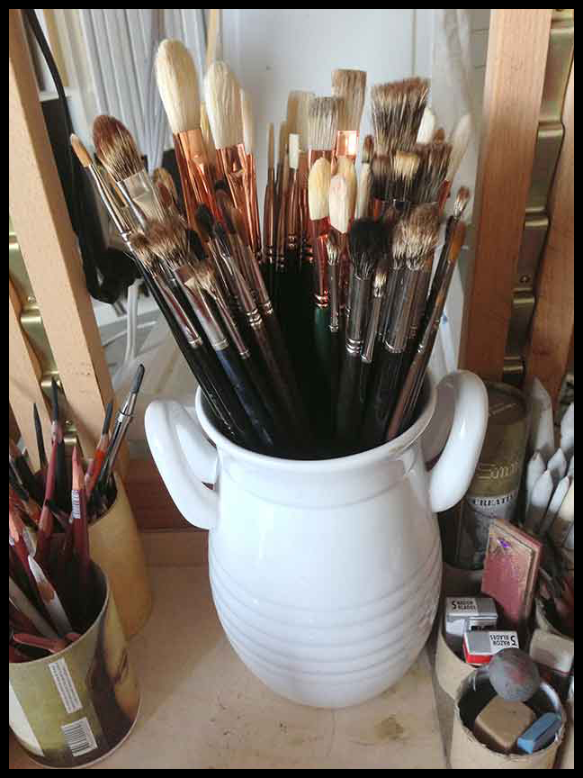 1. Good BRUSHES:  My current assortment. They are the best of the best. Not the most expensive, but best. The Mongoose brushes are from Rosemary and Co. in UK, but will be here, two days after your order. And the tried and true Silver Brushes. I like'm both.