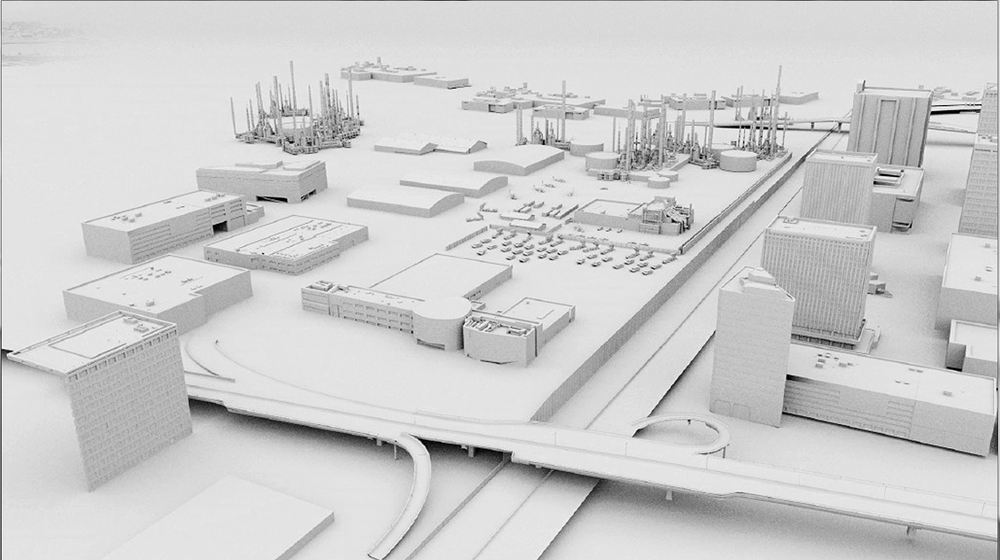 Stark Campus 3D Model - Ambient Occlusion Render
