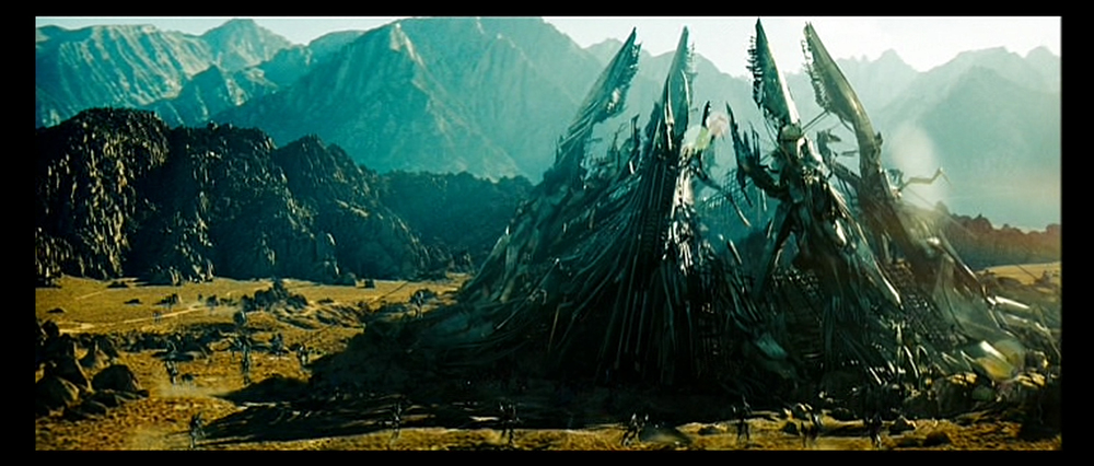 Opening matte painting shot for Tranformers 2. I modeled, lit, surfaced the pyramid structure and painted the surrounding matte.