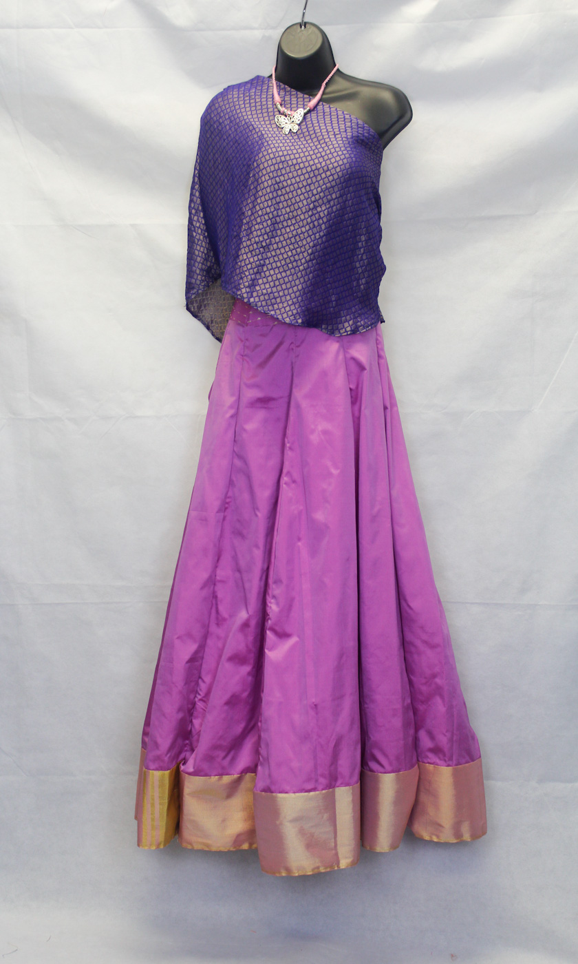 Crop Top and Skirt - This Indowestern outfit is sure to bring style and elegance to your next event.