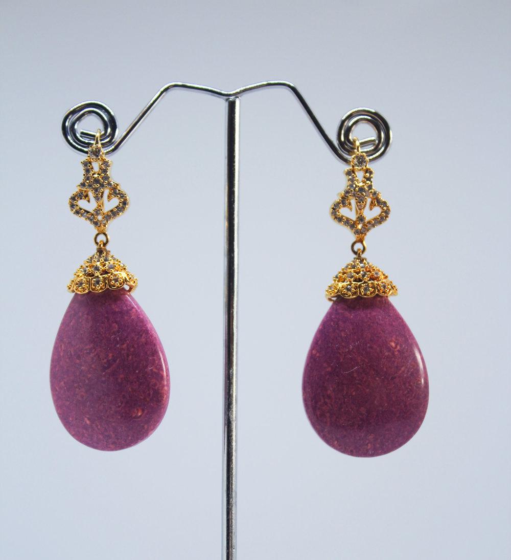 Pink Stone Earrings -