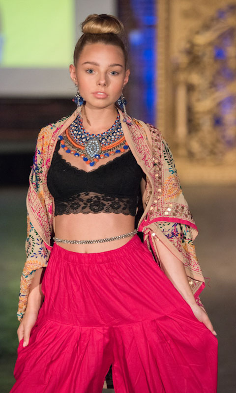 Dress with style - Patiala paired with crop top and chiffon dupatta and thread embroidery. Contact us for styling tips.