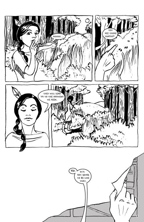 "Art from Emily's mini-comic, ""An American Indian Guide to The Day of Atonement"""