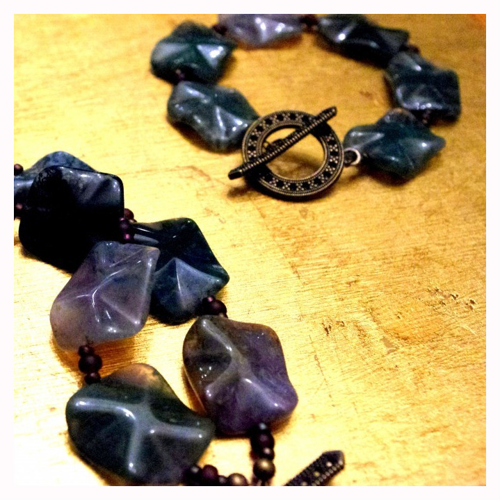 Two lovely Fancy Jasper bracelets made by my friend Sarah.