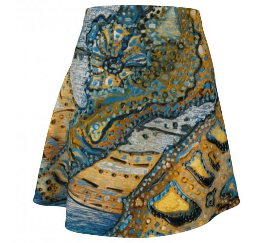 Blue Ocean Flare Skirt