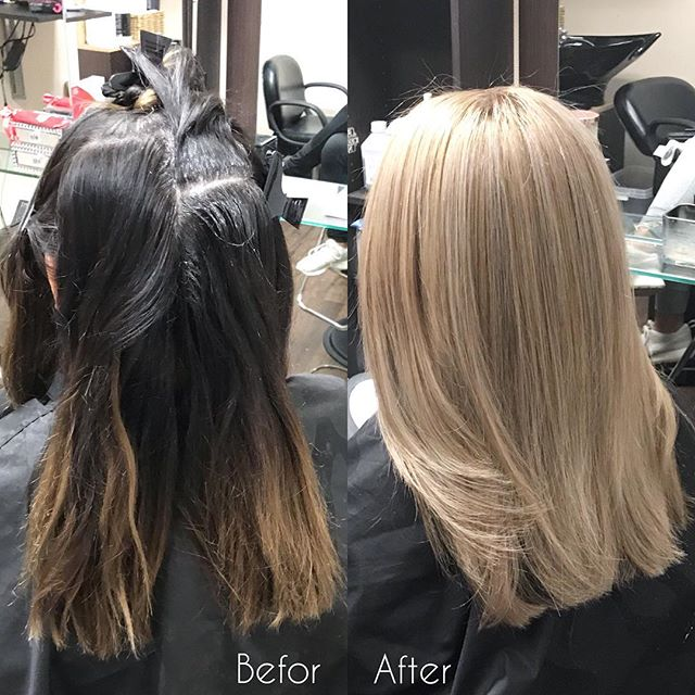 #colorcorrection to get her to the #blonde she wanted. I used @wellahair Blondor and @olaplex to lift and even out the various tones. I tones with Wella CT 1oz 9/16 + .5oz 8/03 to tone. I then trimmed and blew her hair out. Inbox or call/text (513)258-6983 to inquire or book with me. #cincinnatihair #cincinnatihairstylist #cincinnatihairdresser #cincinnatisalon #cincinnatiohio #cincinnati #hair #haircut #haircare #hairgoals #haircolor #hairtransformation #hairstylist #hairdresser #hairoftheday #hairofinstagram #idohair #salon #salonlife #followme #followback #followforfollow #asianhair #newyorkhairstylist #newyorkhair @salonsbyjccincinnati