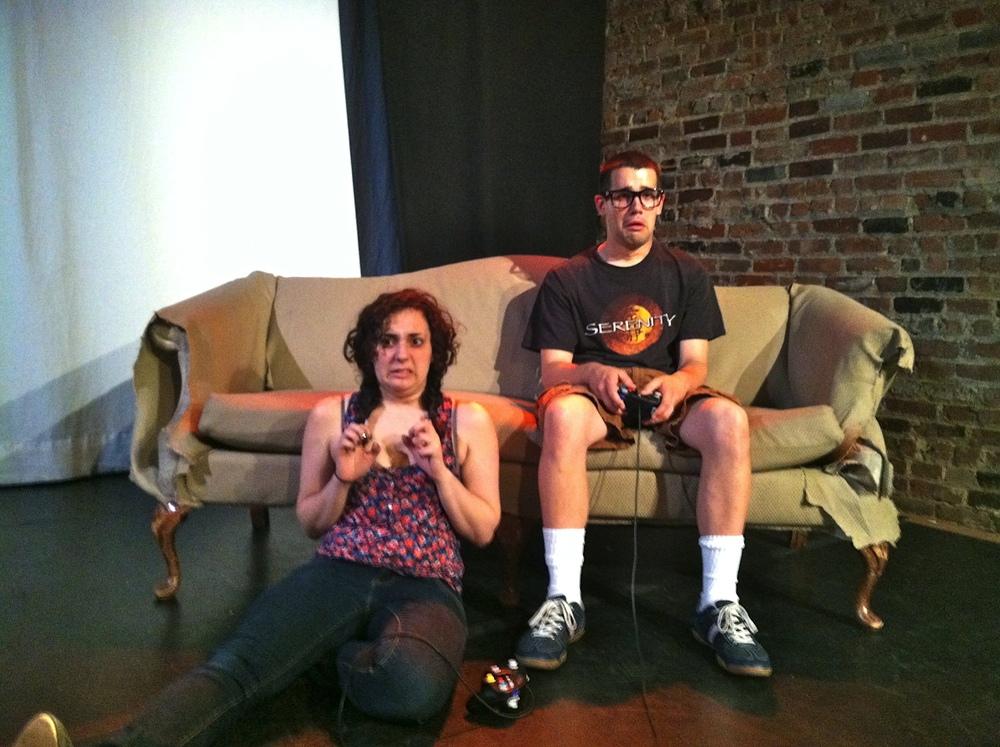 Lisa (Jaime Lamchick) and Pete (Matthew Miller) are a little overwhelmed.