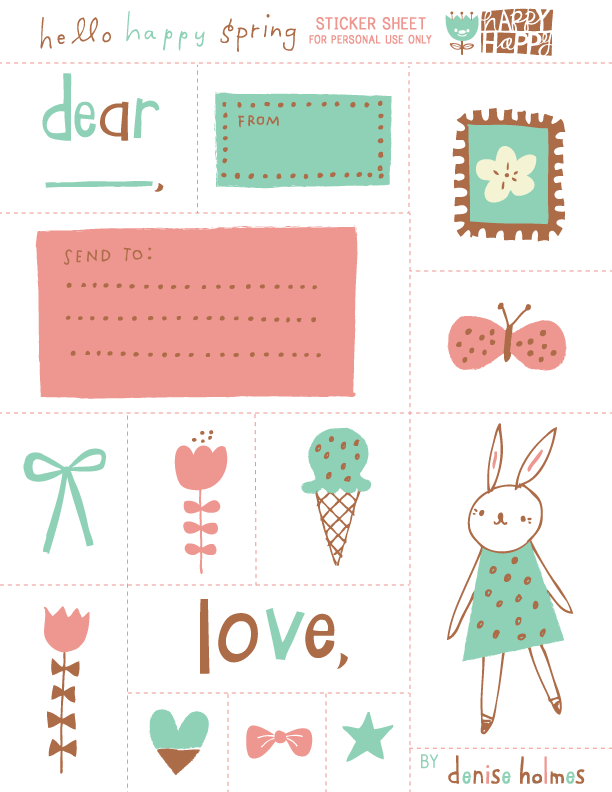 Denise created a spring inspired sticker set print out this one on a full sticker sheet cut along the dotted line and use for creating a letter to your