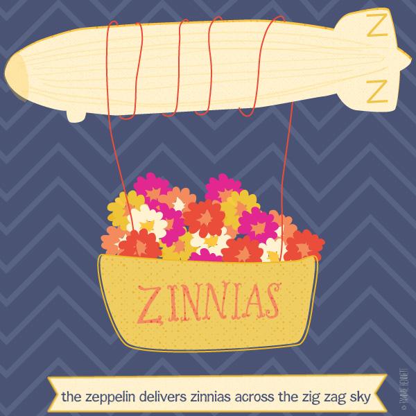 tammie bennett's letter Z illustration