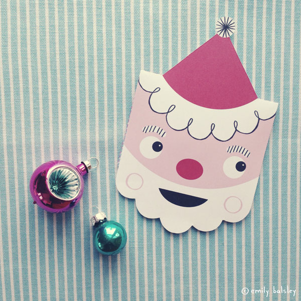 Santa Surprise gift card holder by Emily