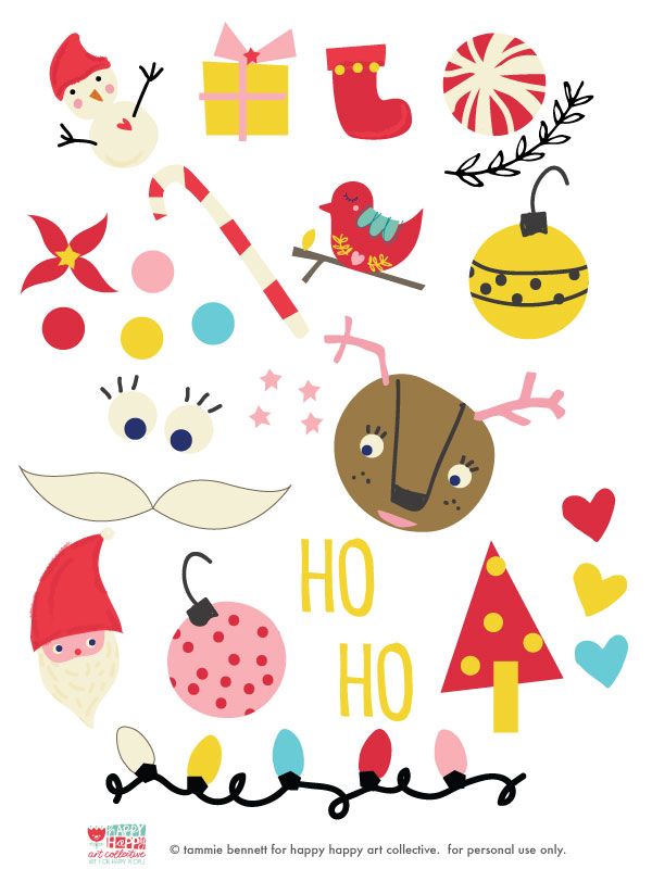 tammie bennett's decorate your own holiday sweater ornaments for happy happy art collective