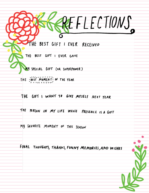 tammie bennett's reflection worksheet for happy happy collective