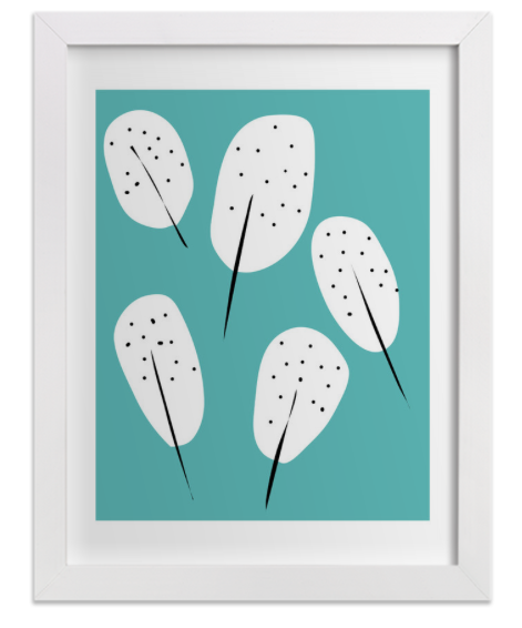 tammie's floating feathers art print