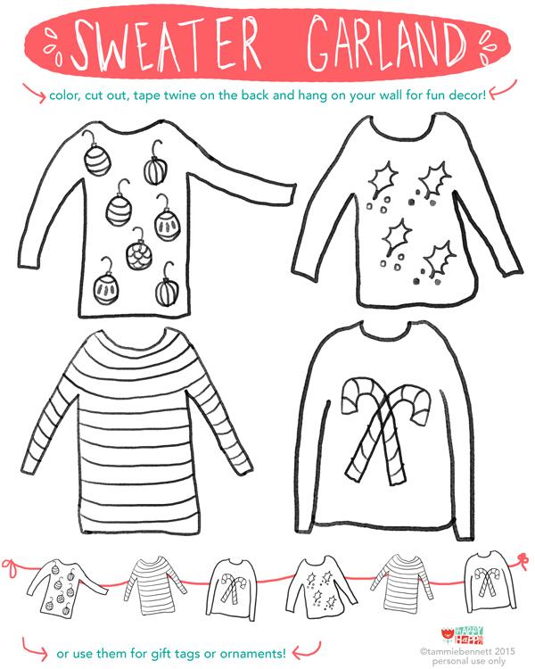 tammie bennett's sweater garland