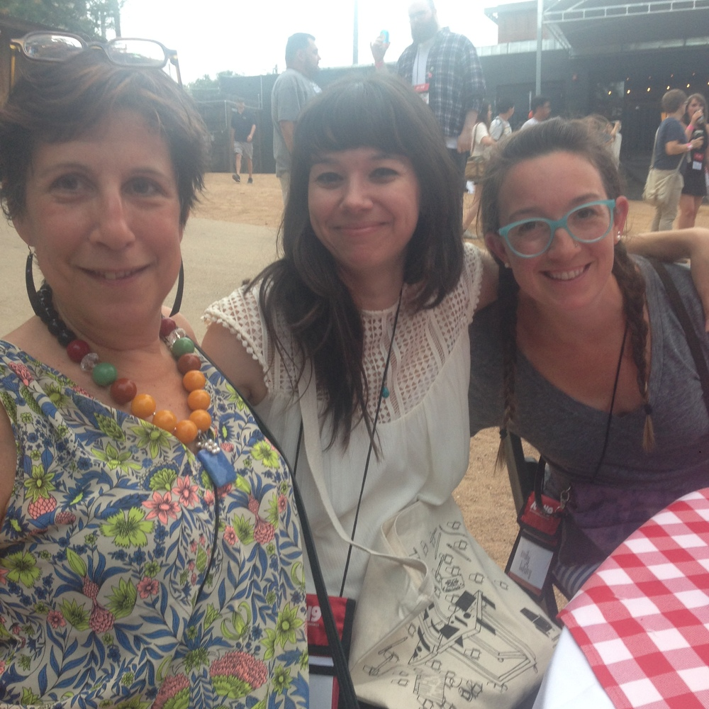Emily, Denise, and Jennifer Orkin Lewis (August Wren) at the closing party!