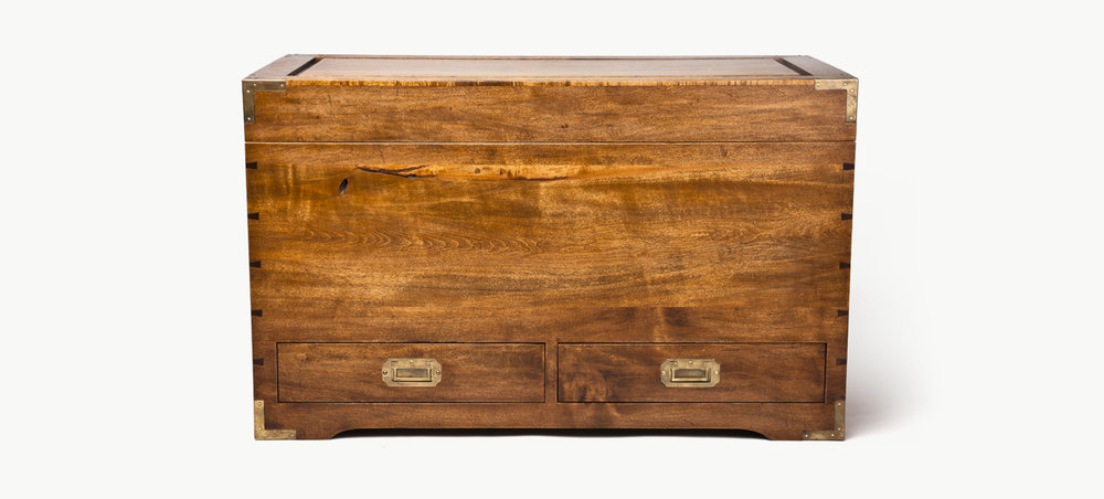 CAMPAIGN BLANKET CHEST
