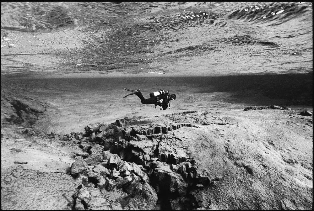01.Claude, diving the Silfra crack of the Þingvellir National Park.