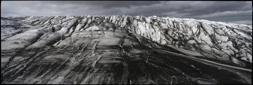 08.Vatnajökull, at 514m altitude the Vatnajökull Glacier tongue Skálafellsjökull.
