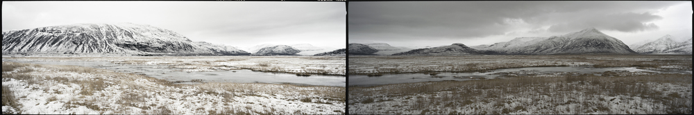 09-10.Sudden light change, in a valley Southeast of Vatnajökull.
