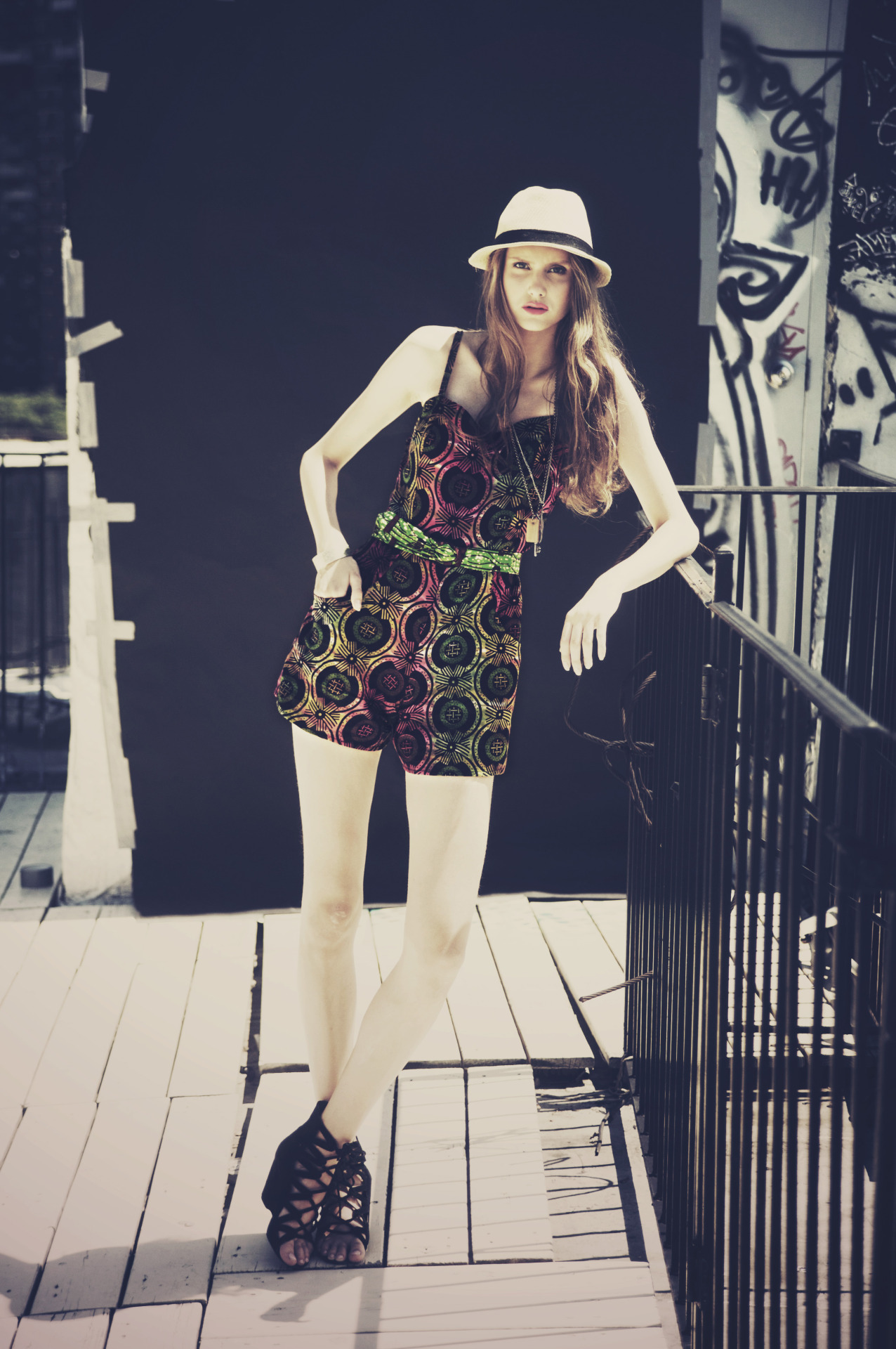AFIA technicolor batik romper   editing: Abby Ross  hair & makeup: Katie Robinson  styling & design: Meghan Sebold