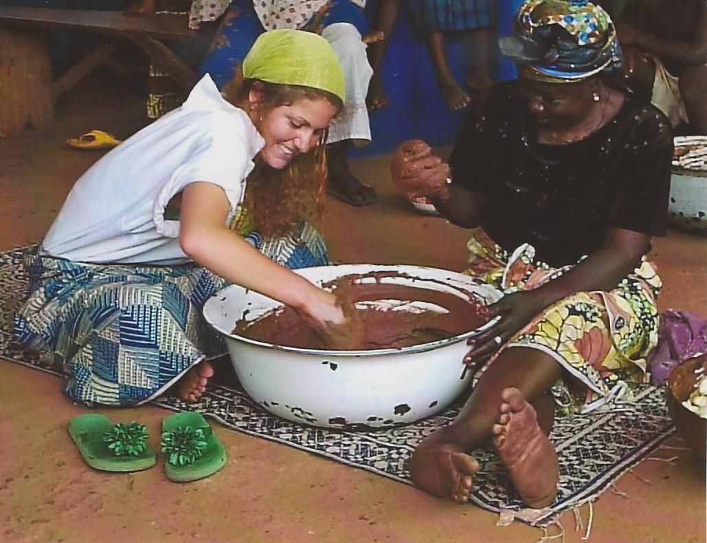 mixing shea butter Tamale, Ghana