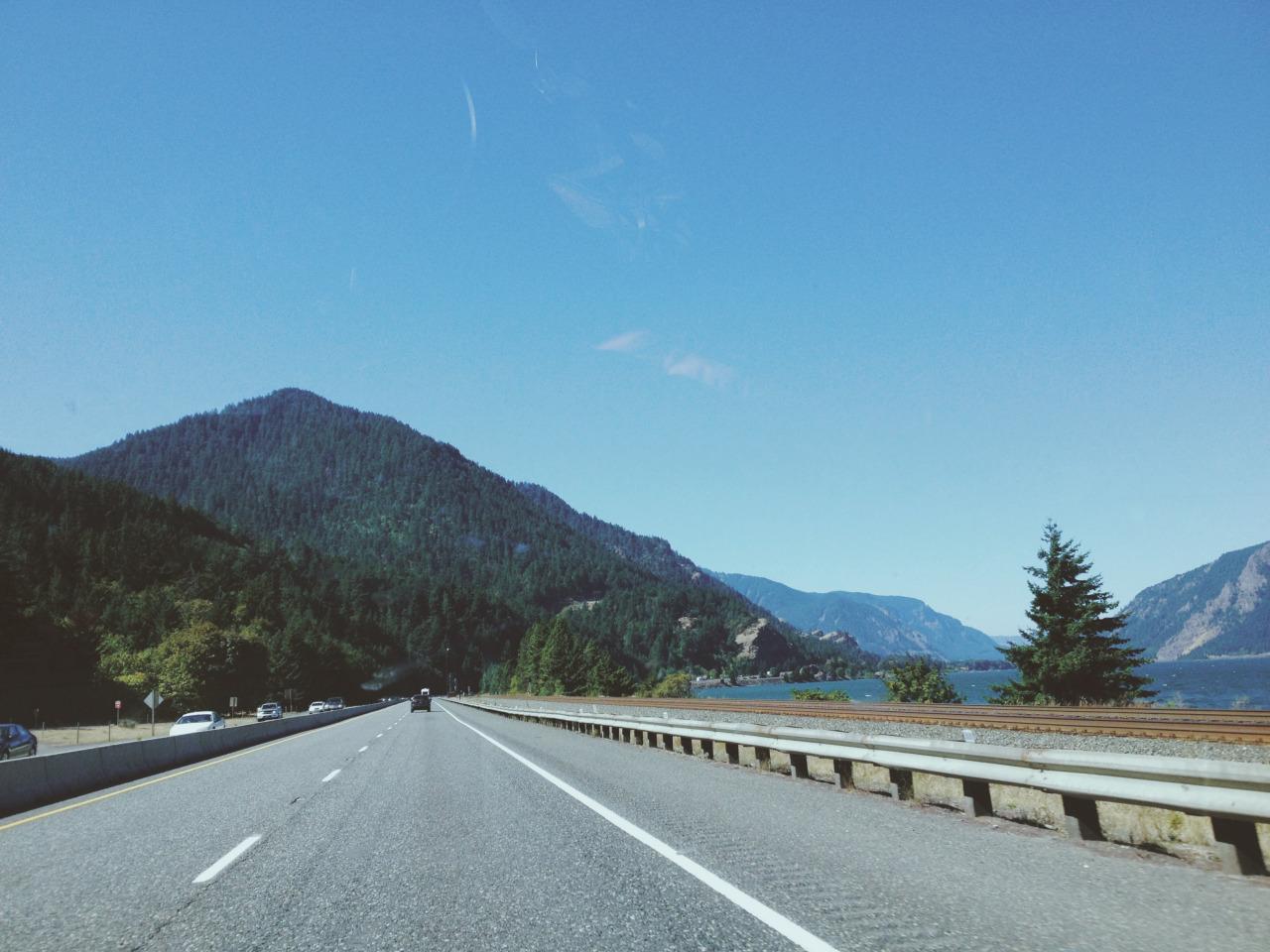 En route back to Portland