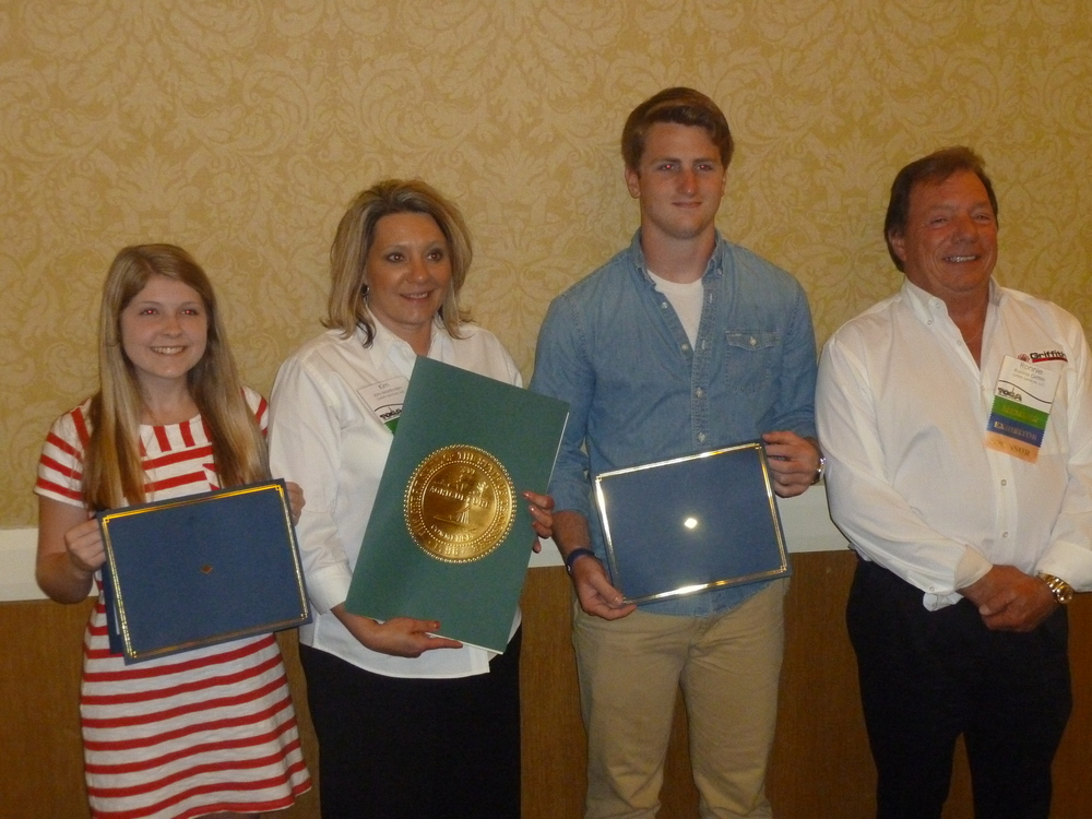 TOGA 2015 scholarship recipients receive their award during the 44th Annual TOGA Convention at the Park Vista Hotel in Gatlinburg, Tennessee.