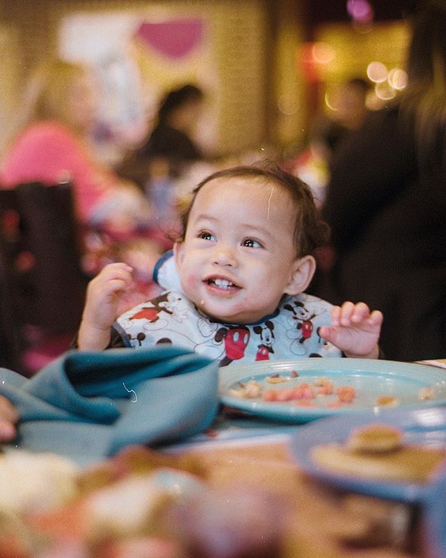 Happiest when he's grubbin 🍗 🍉 Kylo's first birthday celebration #goofyskitchen 11.30.18 🎞 #kodakultramax400