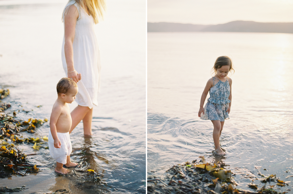 Beachside family session shot on film, by Northern Beaches Photographer Kylie Mills