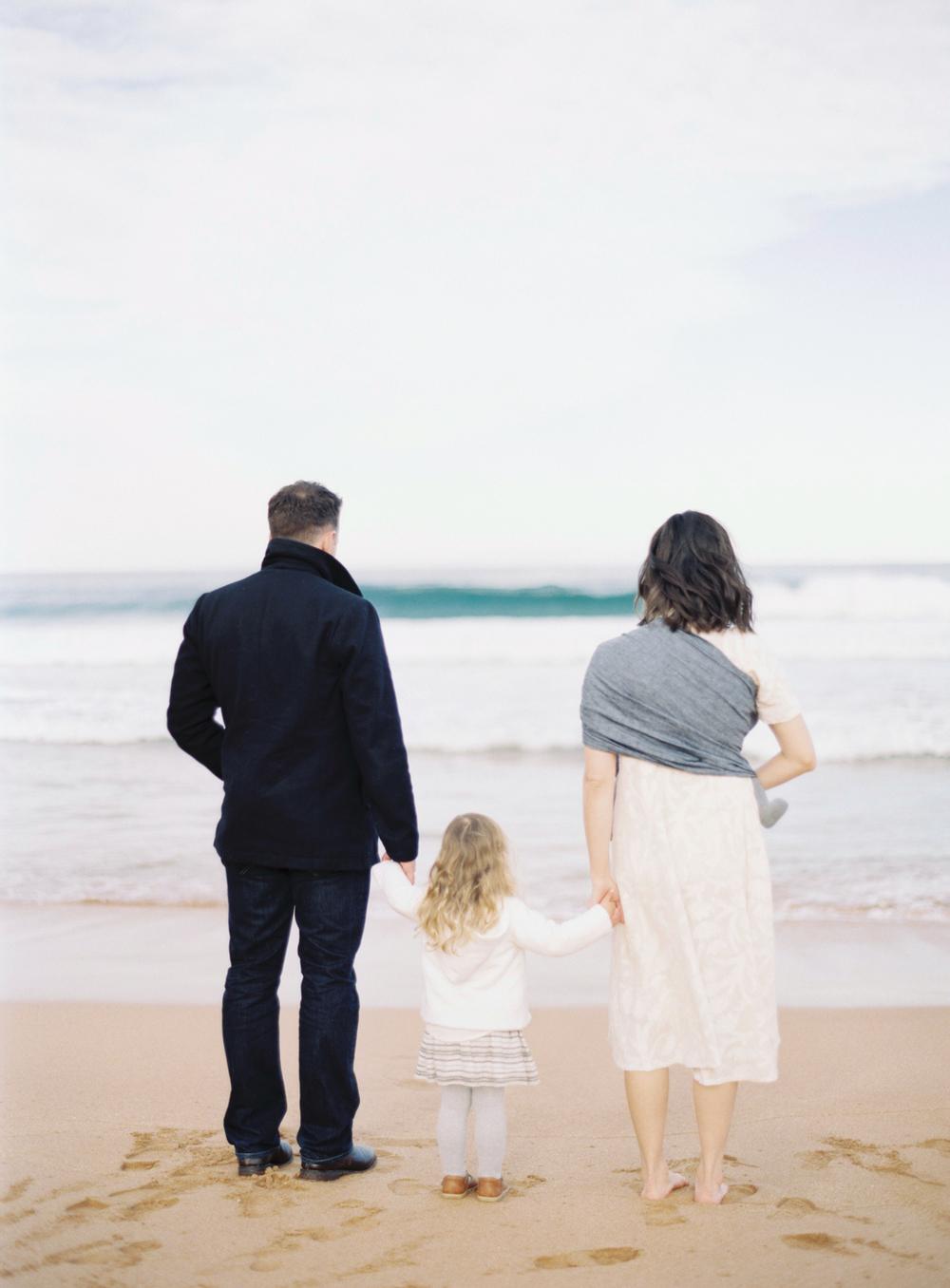 Seaside Family Session on Film